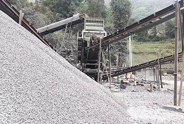 时产1000吨碎石机生产线